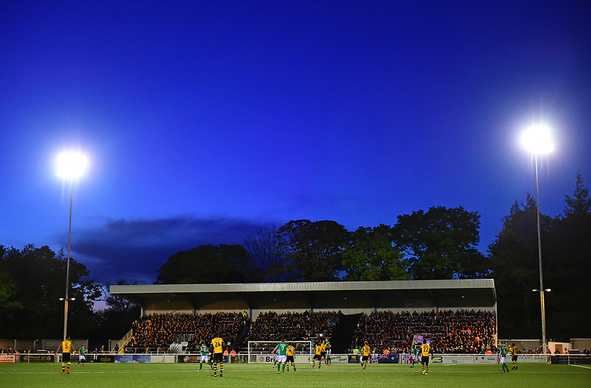 A general view of Gallagher Stadium, home of Maidstone United<br /> <br /> Photographer Chris Vaughan/CameraSport<br /> <br /> Vanarama National League - Maidstone United v Lincoln City - Tuesday 25th April 2017 - Gallagher Stadium - Maidstone<br /> <br /> World Copyright &copy; 2017 CameraSport. All rights reserved. 43 Linden Ave. Countesthorpe. Leicester. England. LE8 5PG - Tel: +44 (0) 116 277 4147 - admin@camerasport.com - www.camerasport.com