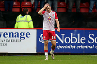 Frustration for Jamie Fielding of Stevenage during Stevenage vs Grimsby Town, Sky Bet EFL League 2 Football at the Lamex Stadium on 12th October 2019