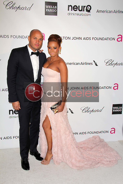 Stephen Belafonte, Melanie Brown<br /> at the Elton John Aids Foundation 21st Academy Awards Viewing Party, West Hollywood Park, West Hollywood, CA 02-24-13<br /> David Edwards/DailyCeleb.com 818-249-4998