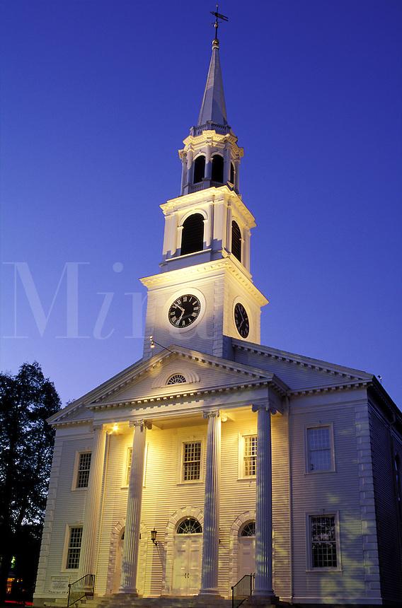 USA, Massachusetts,Williamstown. First Congregational Church