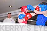 RED: Sean Lucey, Shadows Boxing Club, Killarney and BLUE: Darragh Brosnan, Ballyduff Boxing Club.