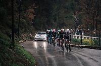 Sam Oomen (NED/Sunweb) leading the peloton<br /> <br /> 76th Paris-Nice 2018<br /> Stage 8: Nice > Nice (110km)