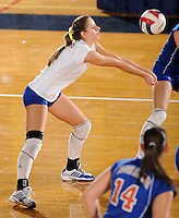 20 November 2008:  South Alabama outside hitter Samia Salomao (1) returns a shot during the FIU 3-1 victory over South Alabama in the first round of the Sun Belt Conference Championship tournament at FIU Stadium in Miami, Florida.