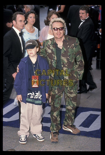 DAVE STEWART & son.14 July 1999.Ref: 8663.father, full length, full-length, camouflage.*RAW SCAN- photo will be adjusted for publication*.www.capitalpictures.com.sales@capitalpictures.com.©Capital Pictures