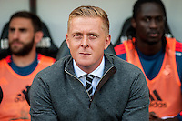 Manager of Swansea City, Garry Monk looks on during the Barclays Premier League match between Swansea City and Everton played at the Liberty Stadium, Swansea  on September 19th 2015