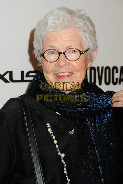 Betty DeGeneres.The Advocate 45th Benefiting The Point Foundation held at the Beverly Hilton Hotel, Beverly Hills, California, USA..March 29th, 2012.headshot portrait black glasses .CAP/ADM/BP.©Byron Purvis/AdMedia/Capital Pictures.