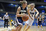 1 March 2008:  BYU guard, Mallary Carling (30) drives for the basket during the Cougar's 54-49 Mountain West Conference loss to the Air Force Falcons at Clune Arena, U.S. Air Force Academy, Colorado Springs, Colorado.