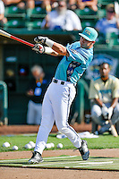 Pioneer League All-Star Ryan January (29) of the Missoula Osprey at bat during the Home Run Derby at the 2nd Annual Northwest League-Pioneer League All-Star Game at Lindquist Field on August 2, 2016 in Ogden, Utah. The Northwest League defeated the Pioneer League 11-5. (Stephen Smith/Four Seam Images)