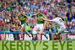 Colm Cooper, Kerry in action against  Ciaran Fitzpatrick, Kildare in the All Ireland Quarter Final at Croke Park on Sunday.