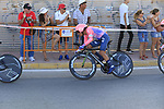EF Education First in action during Stage 1 of La Vuelta 2019, a team time trial running 13.4km from Salinas de Torrevieja to Torrevieja, Spain. 24th August 2019.<br /> Picture: Eoin Clarke | Cyclefile<br /> <br /> All photos usage must carry mandatory copyright credit (© Cyclefile | Eoin Clarke)