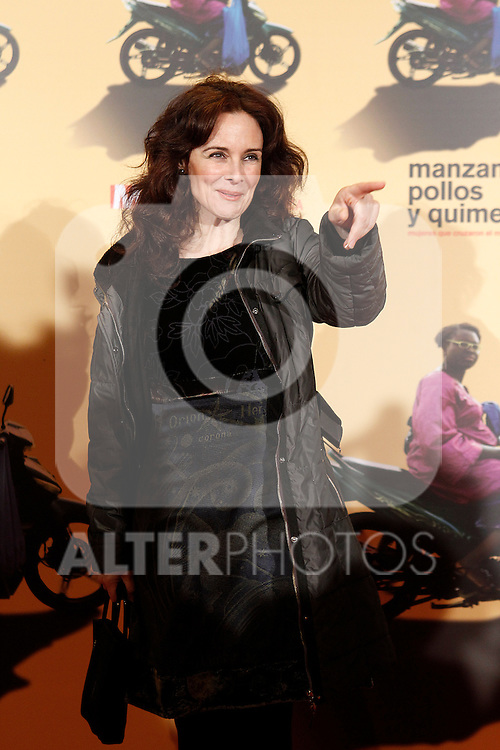 Spanish actress Silvia Marso during the premiere of the documentary film about African women in Spain 'Manzanas, Pollos y Quimeras - Apples, Chicken and Chimeras' by Spanish director Ines Paris.October 29,2013. (ALTERPHOTOS/Acero)