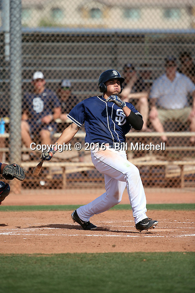 Alan Garcia - San Diego Padres 2016 spring training (Bill Mitchell)