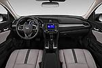 Stock photo of straight dashboard view of a 2019 Honda honda LX 4 Door Sedan