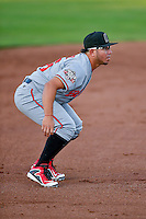 Alberti Chavez (16) of the Billings Mustangs on defense against the Ogden Raptors in Pioneer League action at Lindquist Field on August 12, 2016 in Ogden, Utah. Billings defeated Ogden 7-6.(Stephen Smith/Four Seam Images)