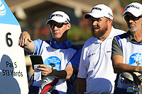 Shane Lowry (IRL) and caddy Dermot Byrne on the 6th tee at Pebble Beach course during Friday's Round 2 of the 2018 AT&amp;T Pebble Beach Pro-Am, held over 3 courses Pebble Beach, Spyglass Hill and Monterey, California, USA. 9th February 2018.<br /> Picture: Eoin Clarke | Golffile<br /> <br /> <br /> All photos usage must carry mandatory copyright credit (&copy; Golffile | Eoin Clarke)
