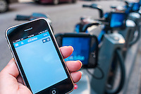 CitBike bike share app fails to find the location.