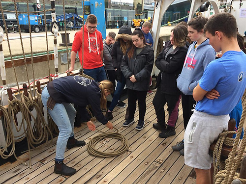 Trainees learn new skills onboard a Tall Ship