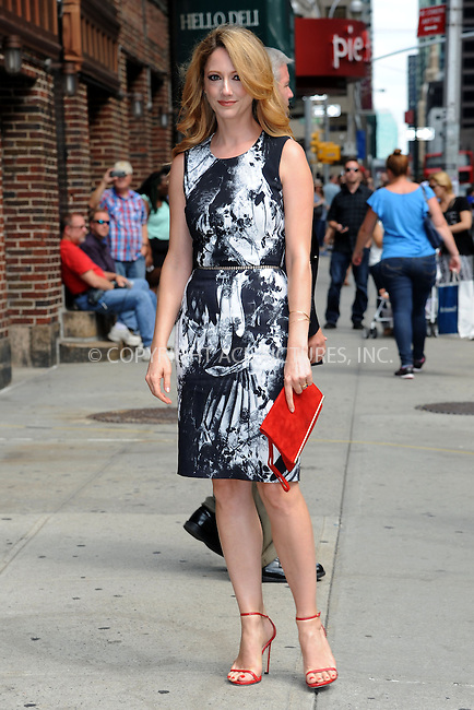 WWW.ACEPIXS.COM <br /> July 29, 2014 New York City<br /> <br /> Judy Greer tapes an appearance on the Late Show with David Letterman on July 29, 2014 in New York City.<br /> <br /> Please byline: Kristin Callahan/ACE Pictures  <br /> <br /> ACEPIXS.COM<br /> Ace Pictures, Inc<br /> tel: (212) 243 8787 or (646) 769 0430<br /> e-mail: info@acepixs.com<br /> web: http://www.acepixs.com