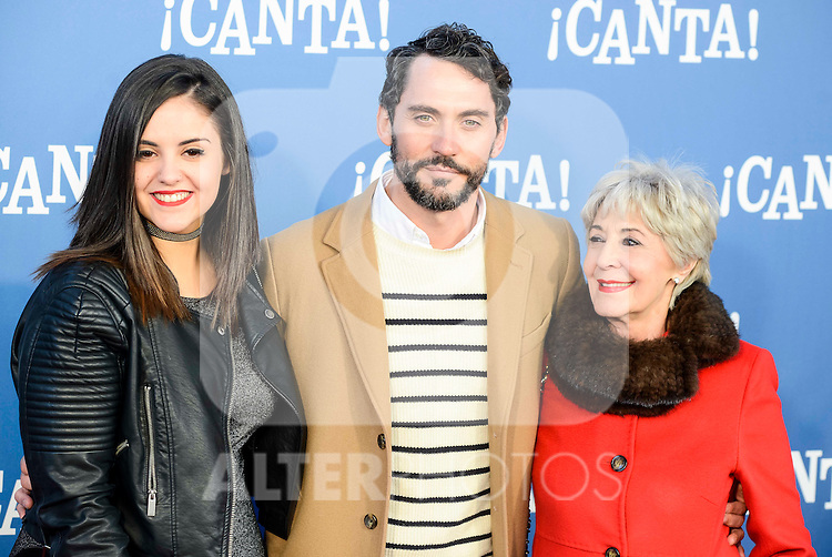 "Andrea Compton, Paco Leon and Concha Velasco attends to the premiere of the film ""¡Canta!"" at Cines Capitol in Madrid, Spain. December 18, 2016. (ALTERPHOTOS/BorjaB.Hojas)"
