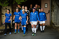Seattle, WA - Sunday, September 24th, 2017: Megan Rapinoe and Sydney Leroux Dwyer during a regular season National Women's Soccer League (NWSL) match between the Seattle Reign FC and FC Kansas City at Memorial Stadium.