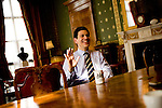 Rt Hon David Miliband MP in his Office at the Foreign and Commonwealth Office. London, UK.