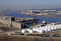 Petroleum industry ; oil ; Storage tanks ; ships ; port ; ship channel ;. Houston Texas.