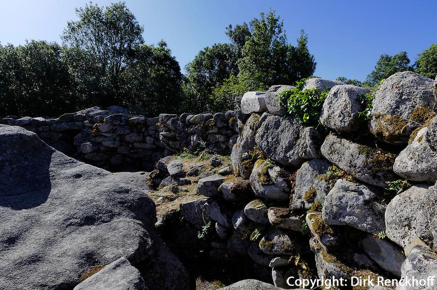 Torreanische Ausgrubungen von Cucuruzzu, Korsika, Frankreich