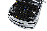 Car Stock 2017 BMW 3-Series-Plug-In-Hybrid Sport 4 Door Sedan Engine  high angle detail view