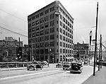 Pittsburgh PA:  View looking south on Water Street toward the Point Building and Penn Avenue - 1935