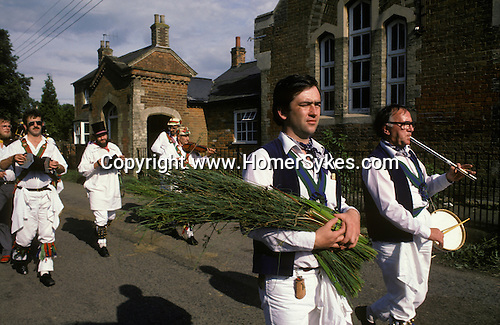 Rushbearing Ceremony Whitechurch Morris Dancers     Wingrave Buckinghamshire.