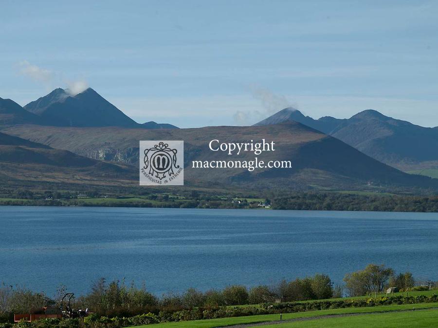 Carrauntoohill Mountain and The McGillycuddy Reeks, Killarney overlooking Lough Lein..Photo: Don macMonagle