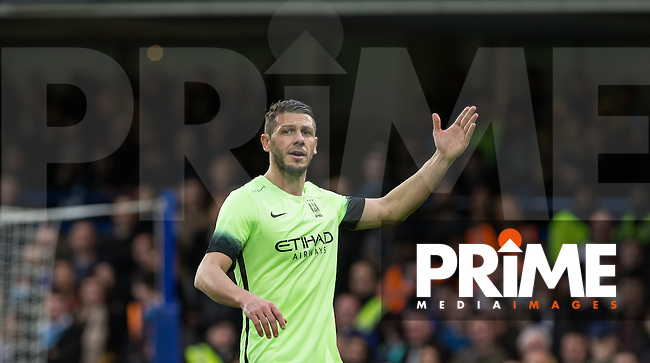 Martin Demichelis of Man City during the FA Cup 5th round match between Chelsea and Manchester City at Stamford Bridge, London, England on 21 February 2016. Photo by Andy Rowland.