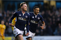 Aiden O'Brien celebrates scoring Millwall's first goal with James Meredith during Millwall vs Preston North End, Sky Bet EFL Championship Football at The Den on 13th January 2018