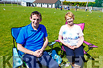 Stephen and Mary O'Sullivan enjoying a quiet time at the St. Brendan's A.C. Open Sports Day in Ardfert on Monday.