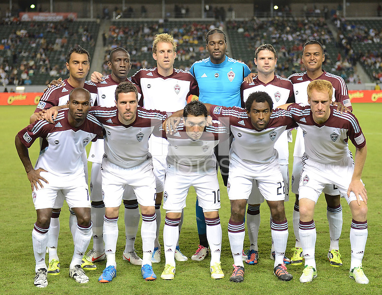 CARSON, CA - October 20, 2012: Colorado Rapids starting lineup Chivas USA vs Colorado Rapids match at the Home Depot Center in Carson, California. Final score, Chivas USA 0, Colorado Rapids 2.