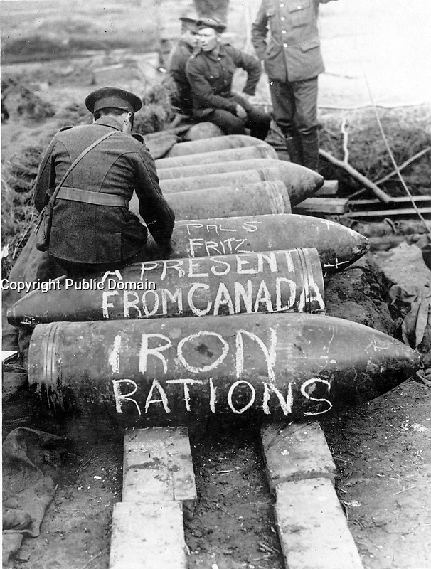 With the Canadians in the great battle<br /> Description<br /> <br /> Shells of fifteen inches as a very unwelcome present from Canada to Germany