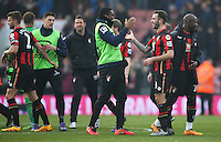Winning goal scorer Steve Cook celebrates after the Barclays Premier League match between AFC Bournemouth and Swansea City played at The Vitality Stadium, Bournemouth on March 12th 2016