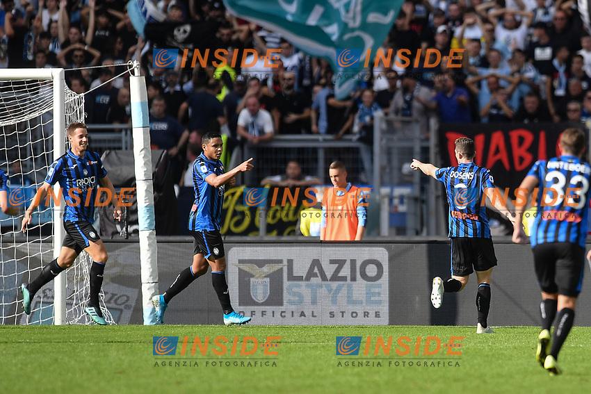 Muriel of Atalanta celebrating after score a goal<br /> Roma 19-10-2019 Stadio Olimpico <br /> Football Serie A 2019/2020 <br /> SS Lazio - Atalanta<br /> Foto Antonietta Baldassarre / Insidefoto