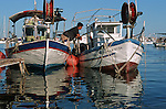 fushing boats int the Pafos harbour