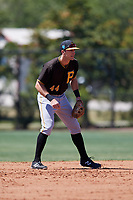 Pittsburgh Pirates Kevin Mahala (44) during a Minor League Spring Training game against the Philadelphia Phillies on March 23, 2018 at the Carpenter Complex in Clearwater, Florida.  (Mike Janes/Four Seam Images)