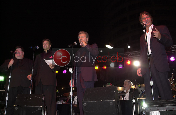 Frank Tanaglia, Joseph Gian, James Darren and Tony Danza performing on stage together