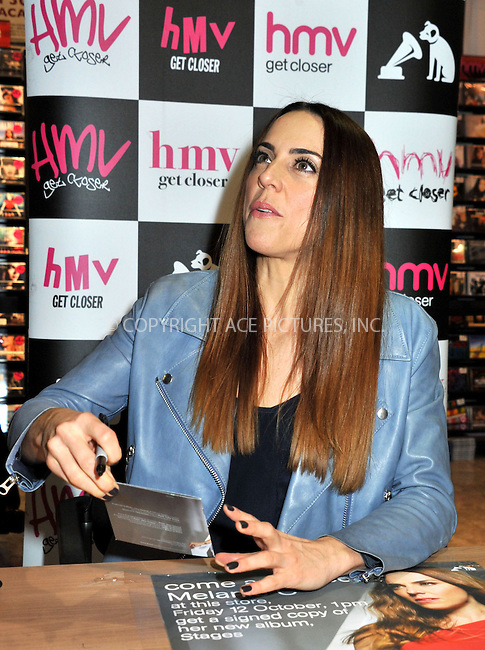 WWW.ACEPIXS.COM....US Sales Only....October 12 2012, Dublin....Melanie Chisholm aka Mel C signs copies of her new album 'Stages' at HMV on October 12 2012 in Dublin, Ireland ......By Line: Famous/ACE Pictures......ACE Pictures, Inc...tel: 646 769 0430..Email: info@acepixs.com..www.acepixs.com