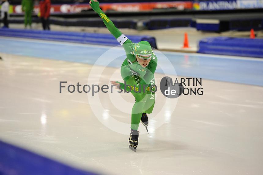 SCHAATSEN: HEERENVEEN: 26-12-2013, IJsstadion Thialf, KNSB Kwalificatie Toernooi (KKT), 1000m, Laurine van Riessen, ©foto Martin de Jong