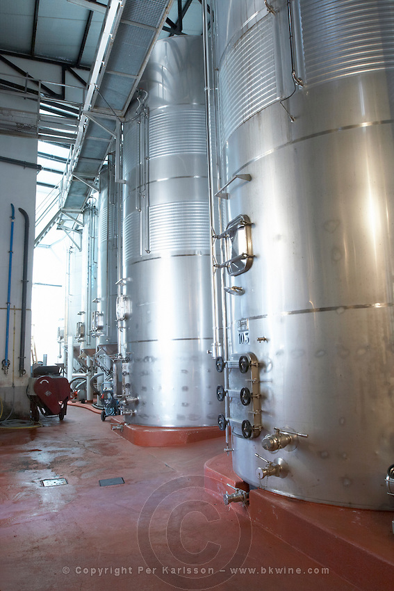 stainless steel tanks , Bodegas Otero, Benavente spain castile and leon
