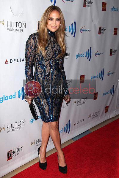 Jennifer Lopez<br /> at the 25th Annual GLAAD Media Awards, Beverly Hilton, Beverly Hills, CA 04-12-14<br /> David Edwards/DailyCeleb.Com 818-249-4998
