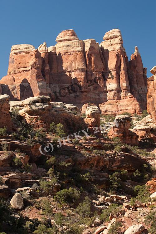 Canyonlands - Hoodoos (Cedar Mesa Sandstone spires)