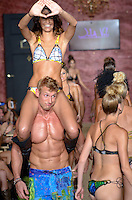 Gioia Jansen and Justin S. at Julia Veli Swimwear Show during Funkshion Fashion Swim Week 2013 at Miami Beach, FL on July 19, 2012