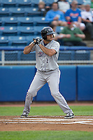 Nick Basto (23) of the Winston-Salem Dash at bat against the Salem Red Sox at LewisGale Field at Salem Memorial Ballpark on May 14, 2015 in Salem, Virginia.  The Red Sox defeated the Dash 1-0.  (Brian Westerholt/Four Seam Images)