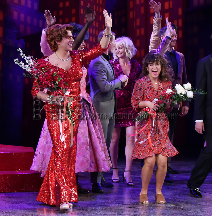 """Santino Fontana and Sarah Stiles during the Broadway Opening Night of """"Tootsie"""" at The Marquis Theatre on April 22, 2019  in New York City."""