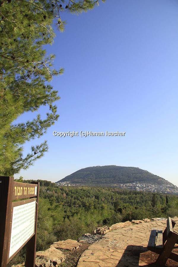 Israel, Lower Galilee, Mount Tabor lookout  by Beth Keshet scenic road
